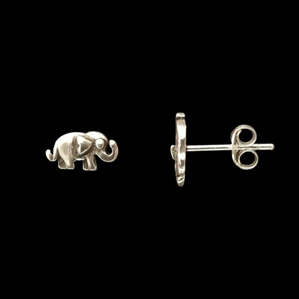 Pendientes de tuerca de plata – Elefante online