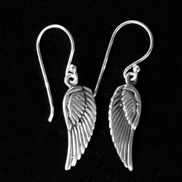 Pendientes de plata baratos alas