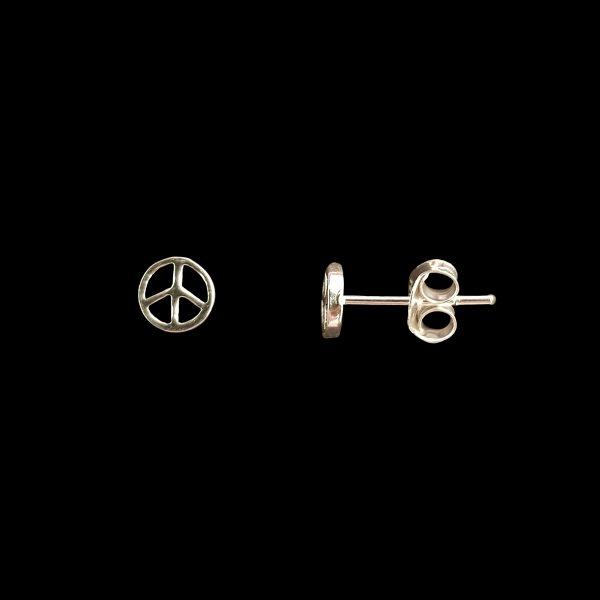 Pendiente tuerca de plata Paz