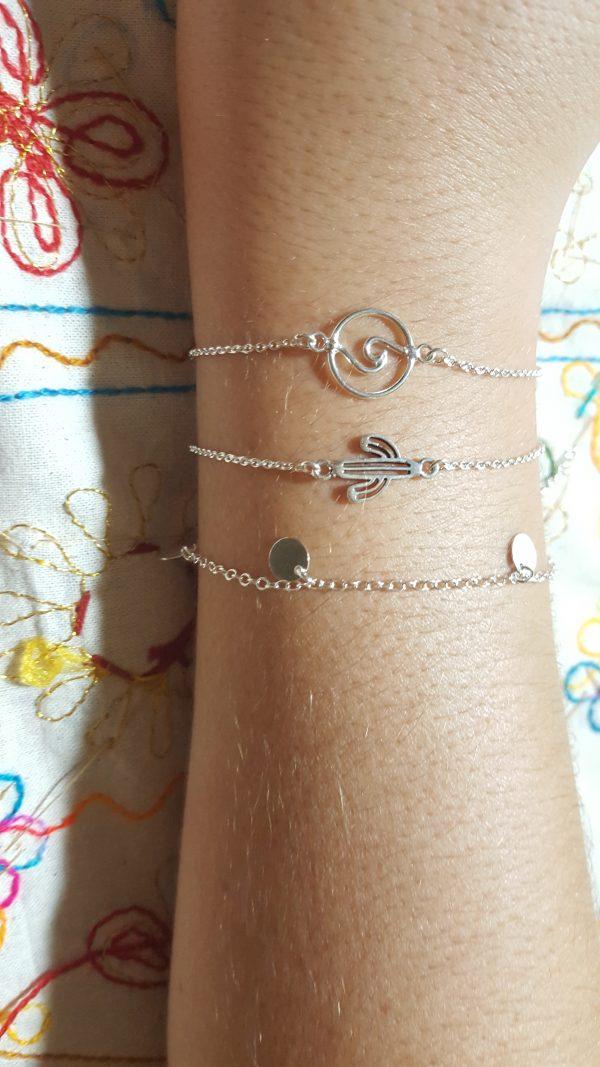 pulseras de plata fantasía 925