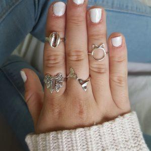 anillos de plata fantasía