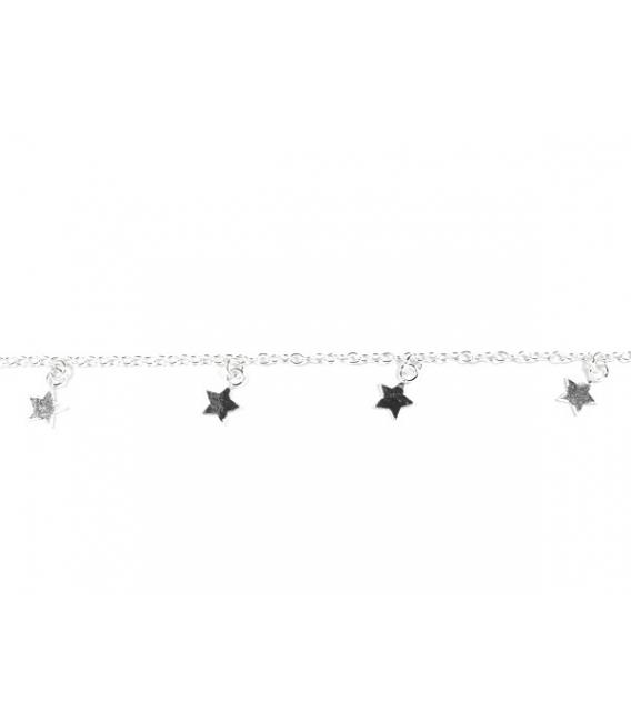 pulsera plata 5 estrellas 16525cm